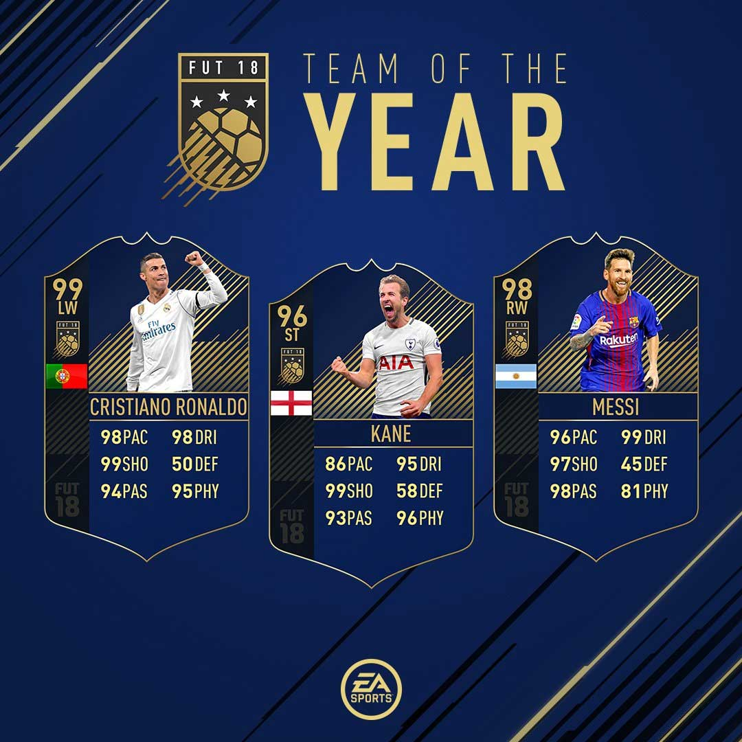 FIFA 18 Team of the Year - The Best Players of 2017
