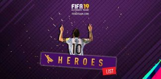 FIFA 19 Heroes Cards List