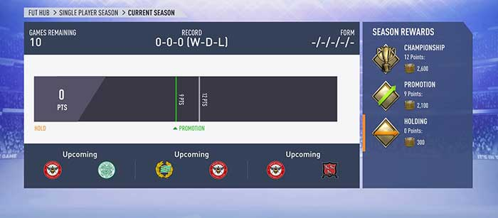 FIFA 19 Seasons Rewards for FUT - Single Player
