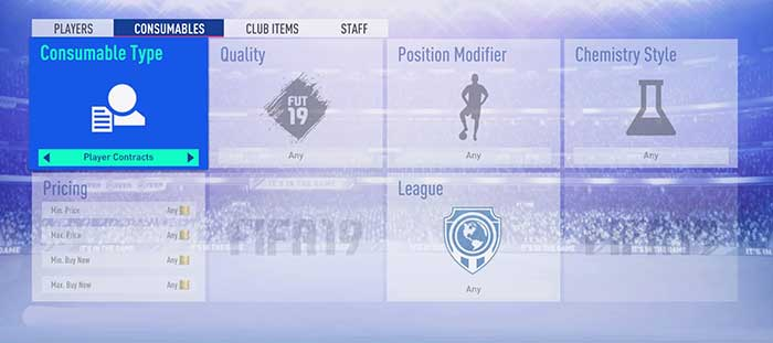 FIFA 19 Contract Cards Guide for FIFA 19 Ultimate Team