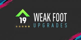 FIFA 19 Weak Foot Upgrades List and Guide