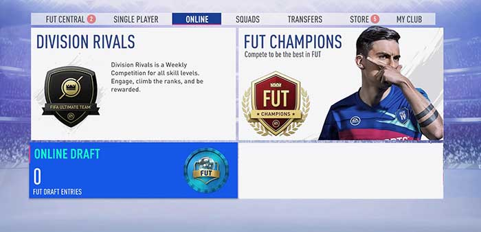 Recompensas de FUT Draft en FIFA 19 Ultimate Team