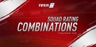 FIFA 19 Squad Rating Combinations
