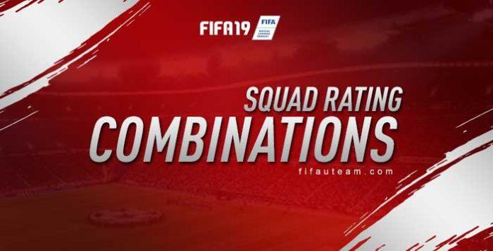 FIFA 19 Squad Rating Combinations