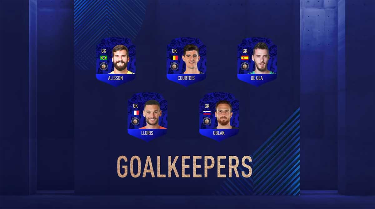FIFA 19 TOTY Nominees - Team of the Year Players Shortlist- Best Goalkeeper in the World