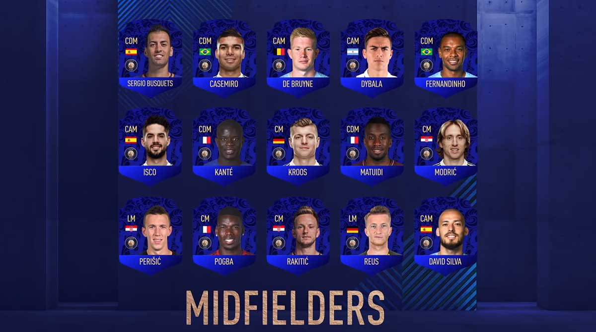 FIFA 19 TOTY Nominees - Team of the Year Players Shortlist- Best Midfielders in the World