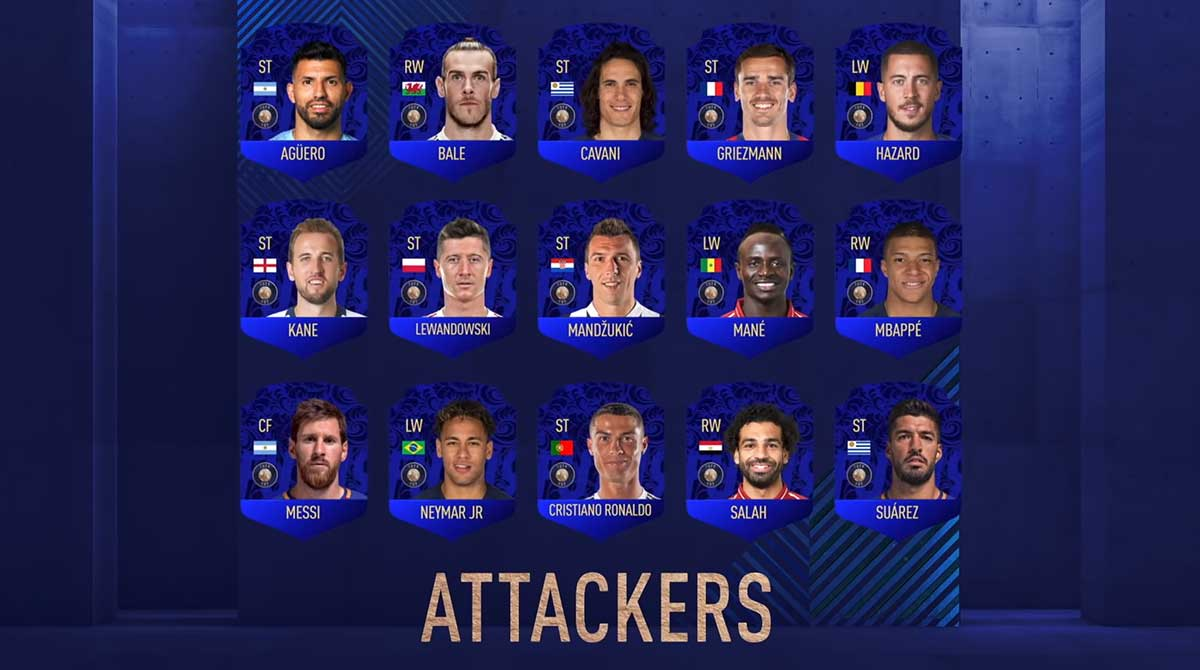 FIFA 19 TOTY Nominees - Team of the Year Players Shortlist- Best Forwards in the World