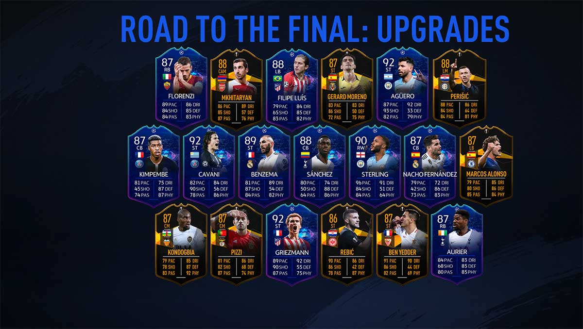 FIFA 19 UCL Live Items - UEFA Champions League Road to the Final Live Squad