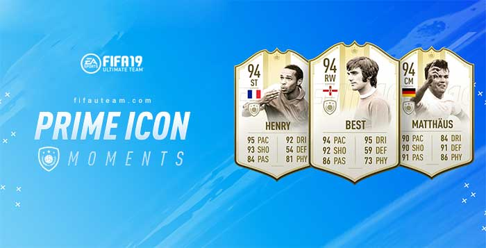 FIFA 19 Prime ICON Moments Guide and Player's List