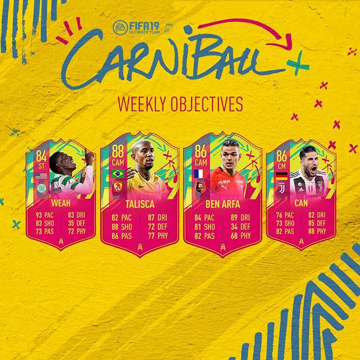 Evento de Carnaval para FIFA 19 Ultimate Team
