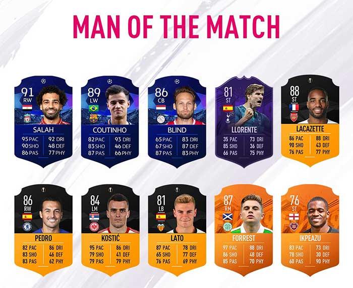 Full List Of FUT 19 MOTM Orange