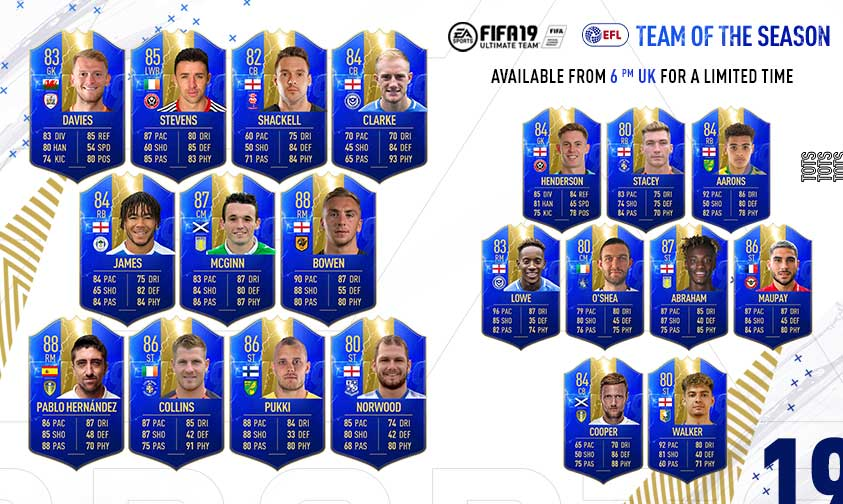 FIFA 19 English Football League Team of the Season