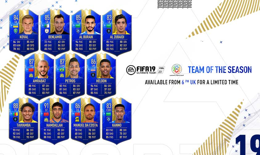 FIFA 19 Saudi Professional League Team of the Season