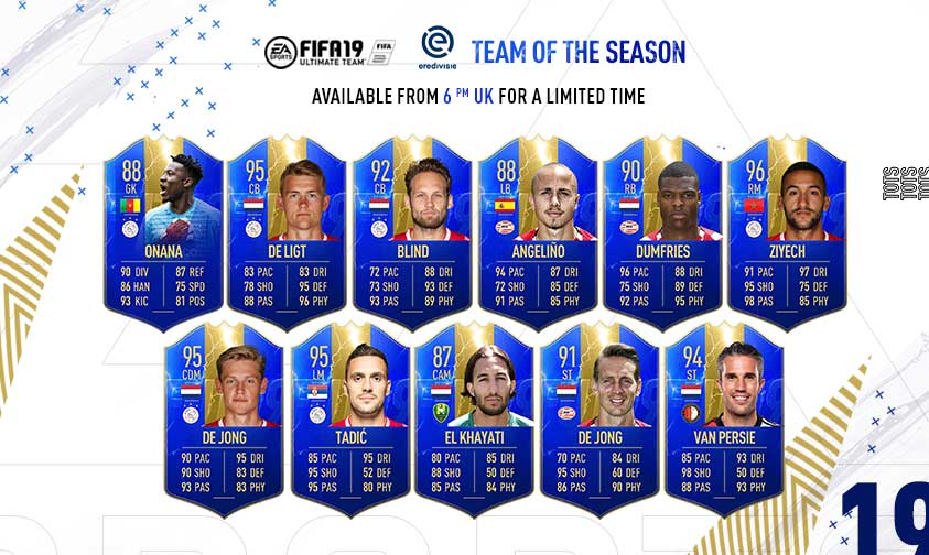 FIFA 19 Eredivisie of the Season