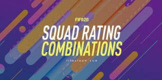 FIFA 20 Squad Rating Combinations