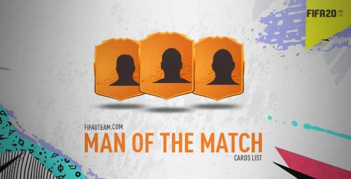 FIFA 20 Man of the Match Cards List