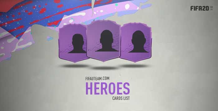 FIFA 20 Heroes Cards List