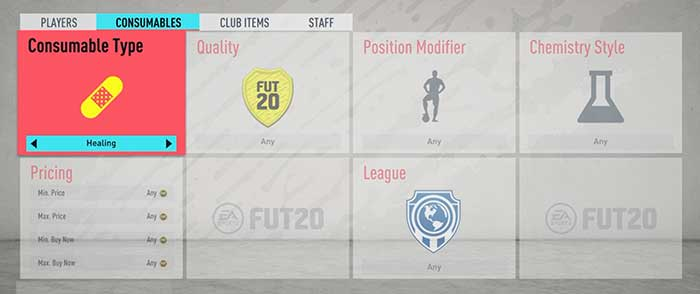 FIFA 20 Healing Cards Guide for FIFA 20 Ultimate Team