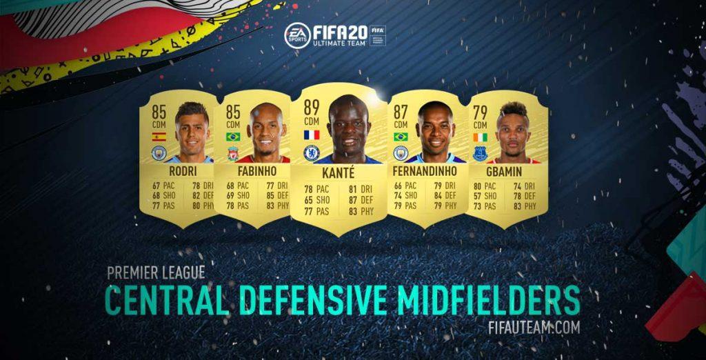 FIFA 20 Premier League Defensive Midfielders