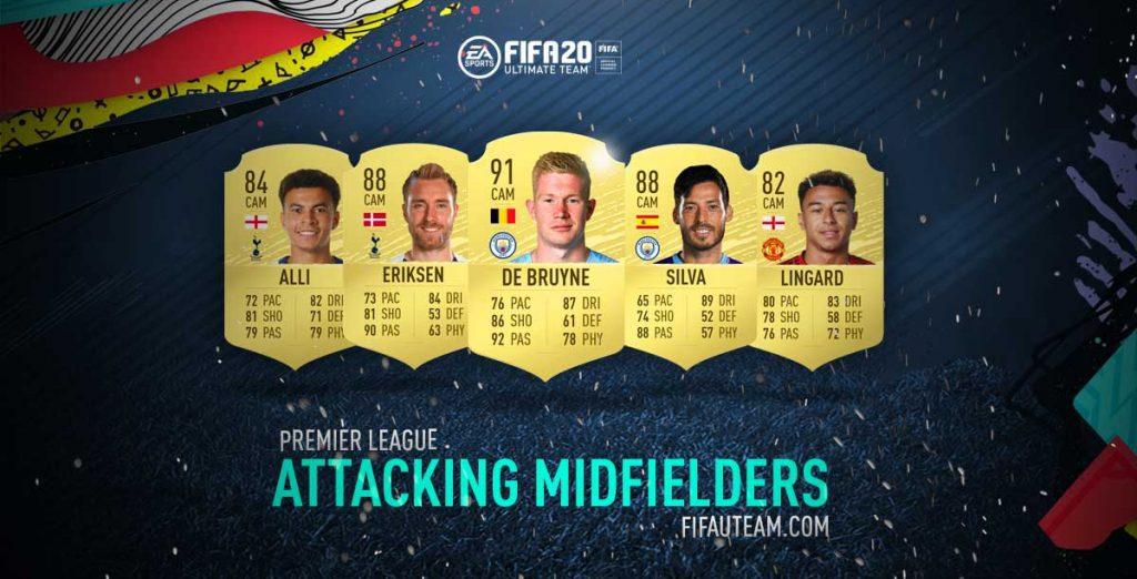 FIFA 20 Premier League Attacking Midfielders