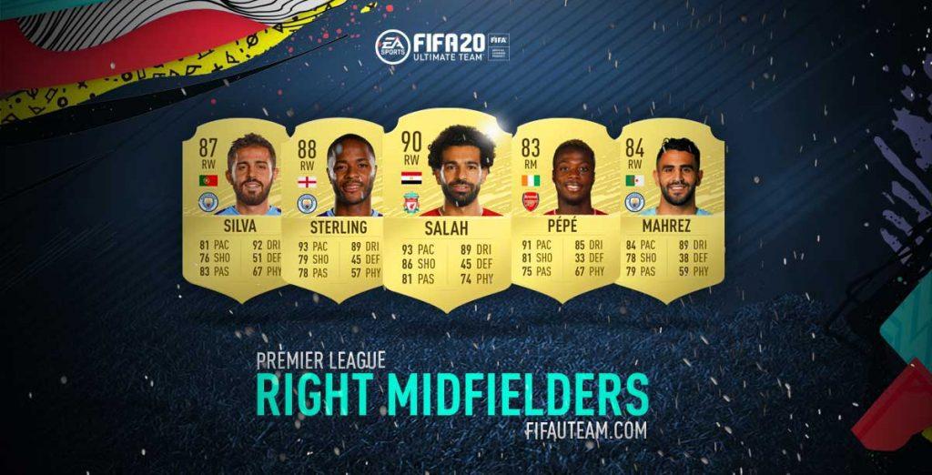 FIFA 20 Premier League Right Midfielders