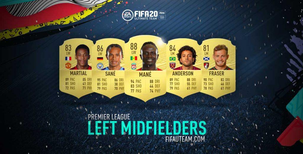FIFA 20 Premier League Left Midfielders