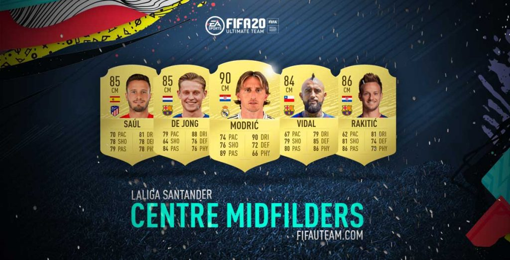 FIFA 20 Premier League Centre Midfielders