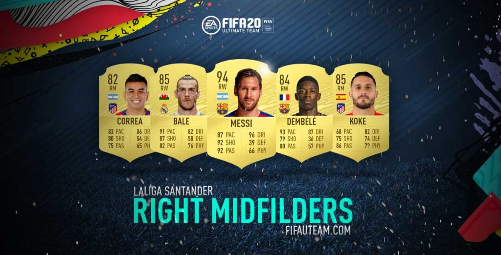 FIFA 20 Premier League Right Midfielders