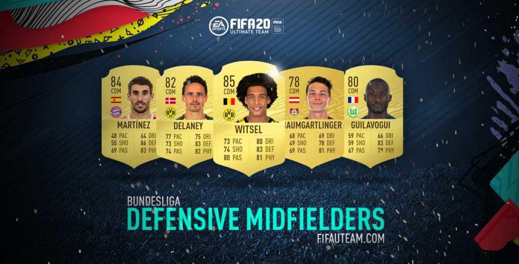FIFA 20 Bundesliga Defensive Midfielders