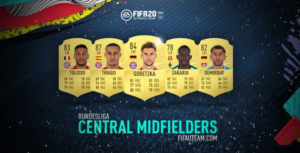 FIFA 20 Bundesliga Central Midfielders