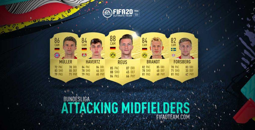 FIFA 20 Bundesliga Attacking Midfielders