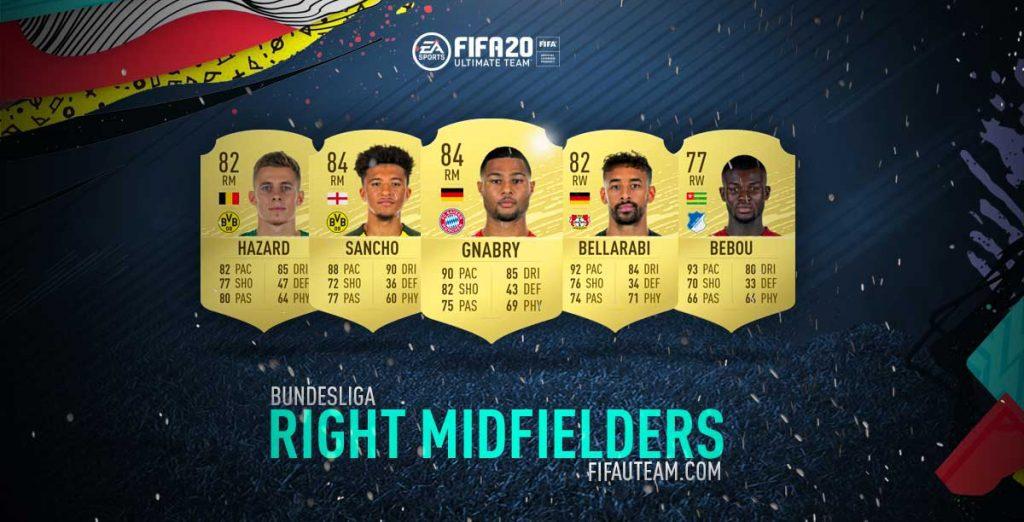 FIFA 20 Bundesliga Right Midfielders