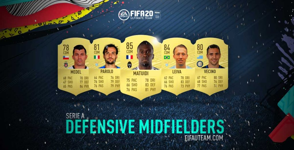 Serie A Defensive Midfielders for FIFA 20