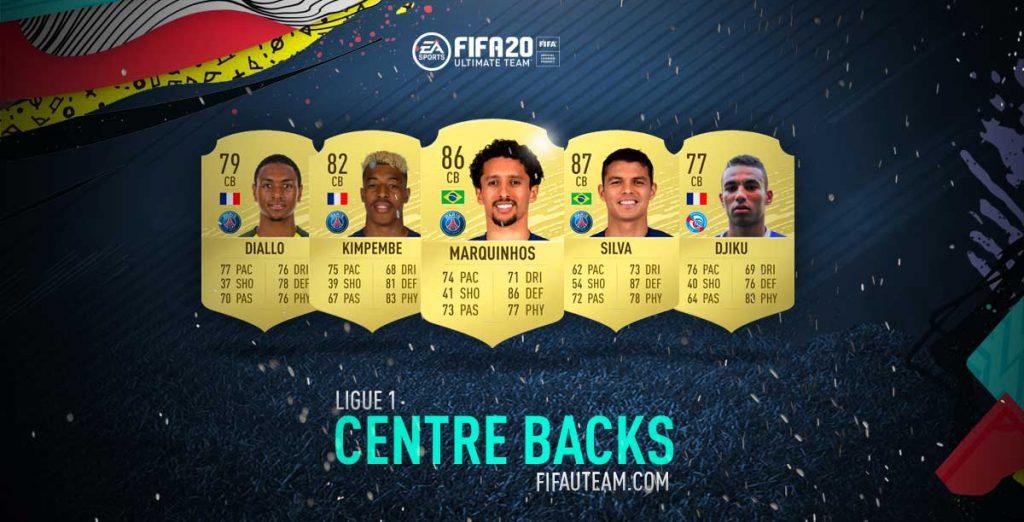 FIFA 20 Ligue 1 Centre Backs