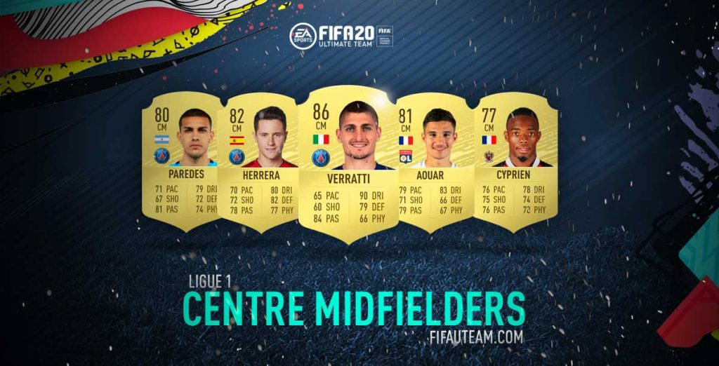 FIFA 20 Ligue 1 Centre Midfielders