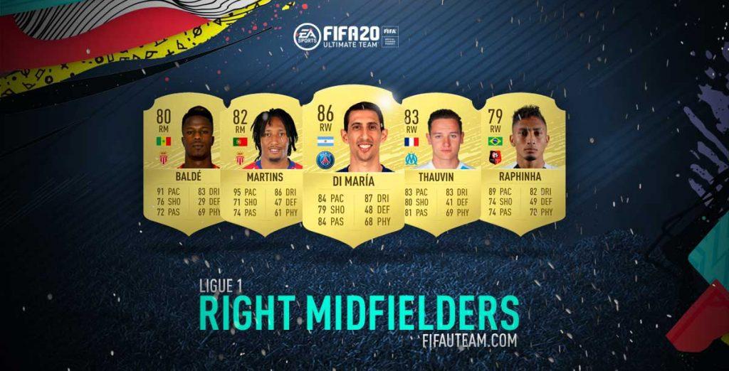 FIFA 20 Ligue 1 Right Midfielders