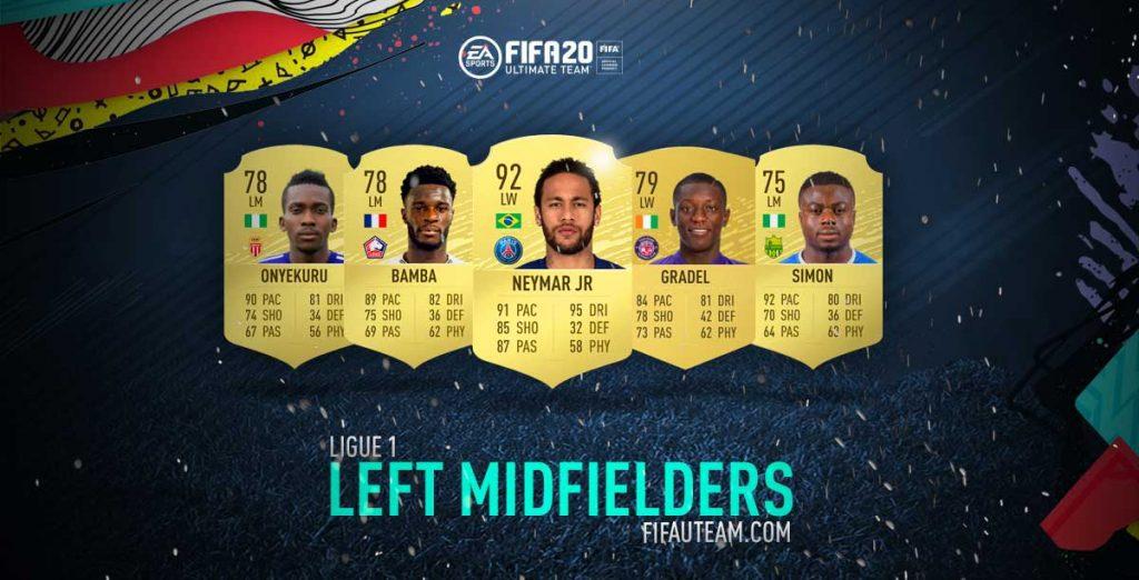FIFA 20 Ligue 1 Left Midfielders
