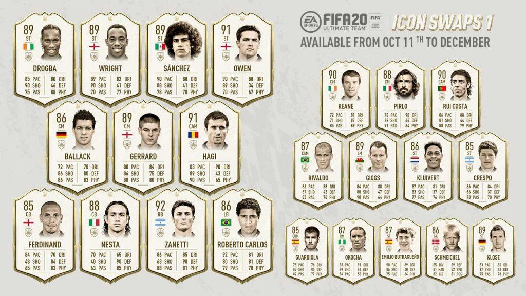 FIFA 20 Icon Swaps - Batch 1