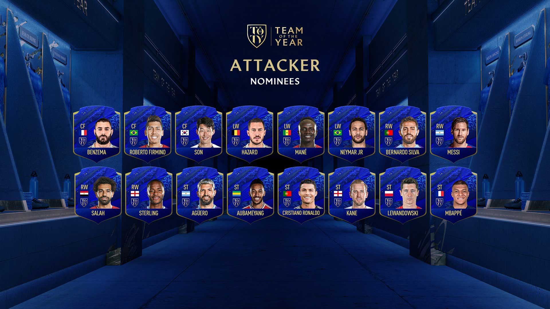 FIFA 20 Team of the Year Nominees Announced