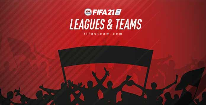 FIFA 21 Leagues, Clubs and National Teams List