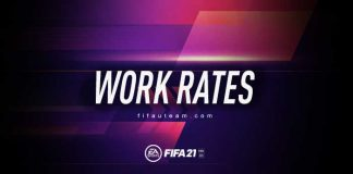 Work Rates Guide for FIFA 21 Ultimate Team